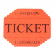 Stock Photo: Colorful ticket isolated on white