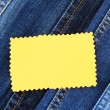Many jeans with label closeup — Stock Photo #13323099