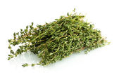 Fresh green thyme isolated on white — Стоковое фото