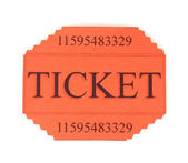 Colorful ticket isolated on white — Stock Photo