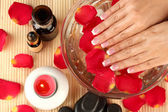 Spa treatments for female hands, close-up — Stock Photo
