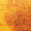 Yellow beautiful honeycomb with honey, background — Stock Photo #13351857