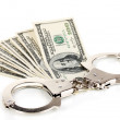 Concept of punishment for financial fraud — Stock Photo