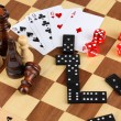 Mix of games close-up — Foto Stock