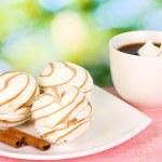 Air marshmallows on nature background — Stock Photo #13359449