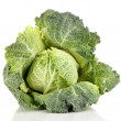 Fresh savoy cabbage isolated on white - Stock Photo
