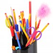 Stock Photo: Holder for pencils isolated on white
