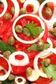 Salad with capers close-up — Stock Photo