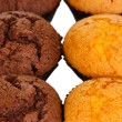 Fresh muffins close-up - Stock Photo