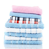 Kitchen towels isolated on white background — Стоковое фото