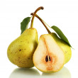 Stock Photo: Juicy flavorful pears isolated on white