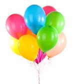 彩色气球上白色隔离 — 图库照片