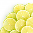 Stock Photo: Lime close up isolated on white