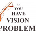 Eyesight test chart with glasses close-up — Stock Photo