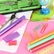 Various school supplies close-up isolated on white — Stock Photo #13541970