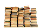 Old books isolated on white — Стоковое фото
