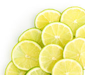 Lime close up isolated on white — Stock Photo