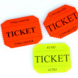 Colorful tickets isolated on white — Foto de Stock