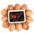 Jam walnuts in a bowl — Stock Photo