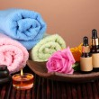 Spa setting on brown background — Stock Photo #13650619