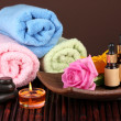 Spa setting on brown background — Stock Photo #13650621