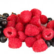 Fresh berries on white background close-up — Stock Photo