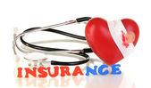 Concepto de seguro de salud aislado en blanco — Foto de Stock