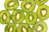 Kiwi as background — Stock Photo