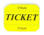 Biglietto colorato isolato su bianco — Foto Stock