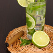 Mojito on a wooden background — Zdjęcie stockowe
