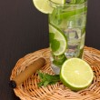 Mojito on a wooden background — Lizenzfreies Foto