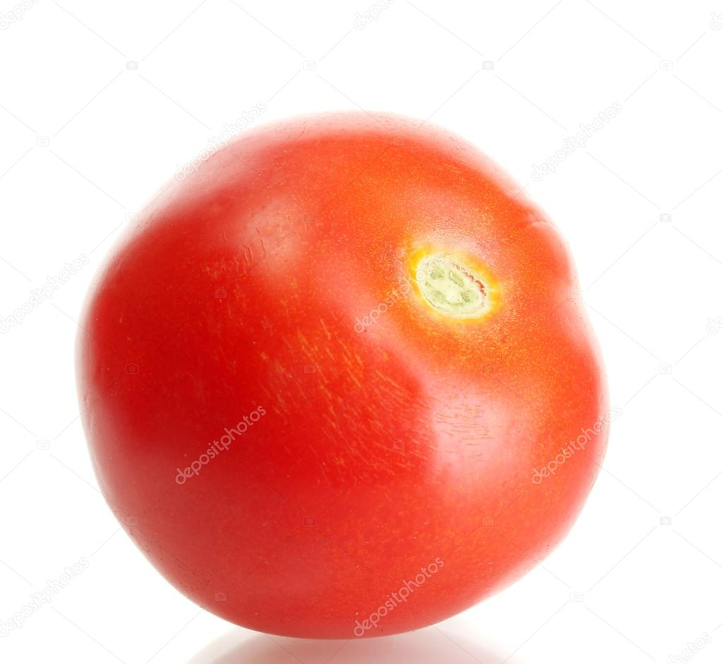 Ripe red tomato isolated on white — Stock Photo #13728456