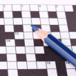 Royalty-Free Stock Photo: Crossword puzzle close-up
