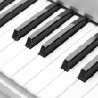 Background of synthesizer keyboard — Stock Photo #13806636