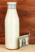 Concept of delivery milk — Stock Photo
