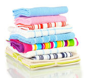 Kitchen towels isolated on white background — Stock Photo