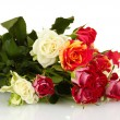 Bouquet of beautiful roses on white background close-up — Stock Photo #13846914