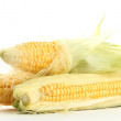 Fresh corn, isolated on white - Stock Photo