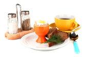 Light Breakfast isolated on white — Stock Photo