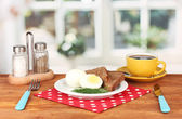 Breakfast in cafe — Stock Photo