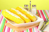 Boiled corn with butter and spices — Stock Photo