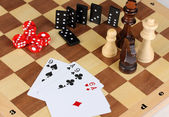 Mix of games close-up — Stock Photo