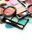 Beautiful decorative cosmetics, isolated on white — Stock Photo