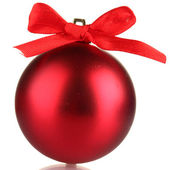 Beautiful red Christmas ball isolated on white — Stock Photo