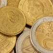 Euro coins background — Stock Photo #13925239