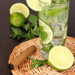 Mojito on a wooden background — Stockfoto