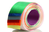 Bright silk ribbons, isolated on white — Stock Photo