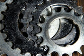 Group of metal cogwheels — Stock Photo