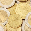 Euro coins background — Stock Photo #14030456