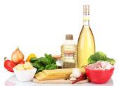 Ingredientes lasaña aislados en blanco — Foto de Stock
